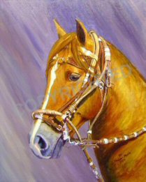 Acrylic Painting of a Peruvian gelding named Avatar Joven SRR