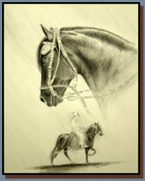 "243 ""Casimiro in Graphite #2"", is a graphite drawing"