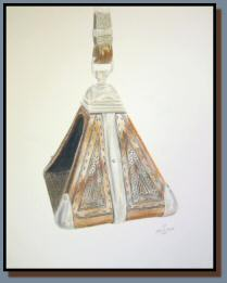 Peruvian Stirrup, a colored pencil drawing