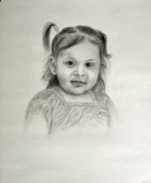 Portrait of Alayna, drawn in graphite.