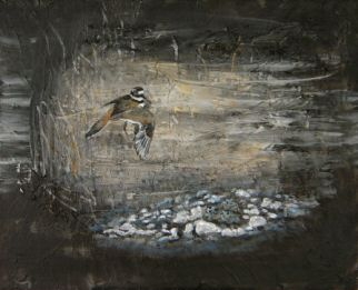 "Acrylic painting named ""Killdeer's Dance"""