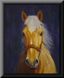 Painting of a horse named Mandy