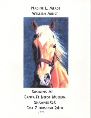 Flyer for art display in conjucntion with Artrain visit at Santa Fe Depot, Shawnee, OK